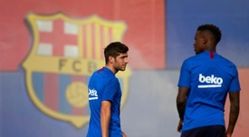 Sergi Roberto e Semedo estão longe de chegar no City. EFE/Alejandro García