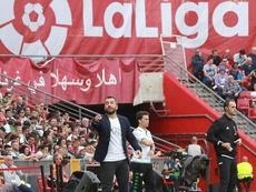 Diego Martínez ha llevado al Granada a un logro impensable. EFE