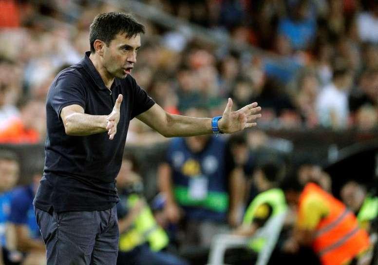 Garitano consideró justo el empate. EFE/Juan Carlos Cárdenas/Archivo