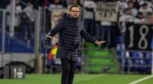 Bordalás instaura un discurso ambicioso de cara a la Europa League. EFE