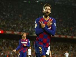 Piqué fala sobre o cenário atual do Barça. EFE/Enric Fontcuberta