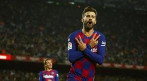 Piqué repasó la actualidad del Barça. EFE