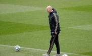 Zidane prépare une séance avant d'aller en Belgique. . EFE/ Juan Carlos Hidalgo