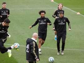 Marcelo pode estar de volta contra a Real Sociedad. AFP