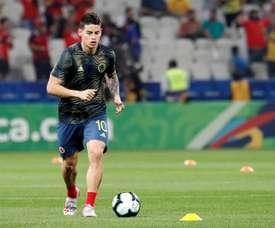Igual que Bale: James, na lista de pré-convocados da Colômbia. EFE/Paulo Whitaker/Archivo