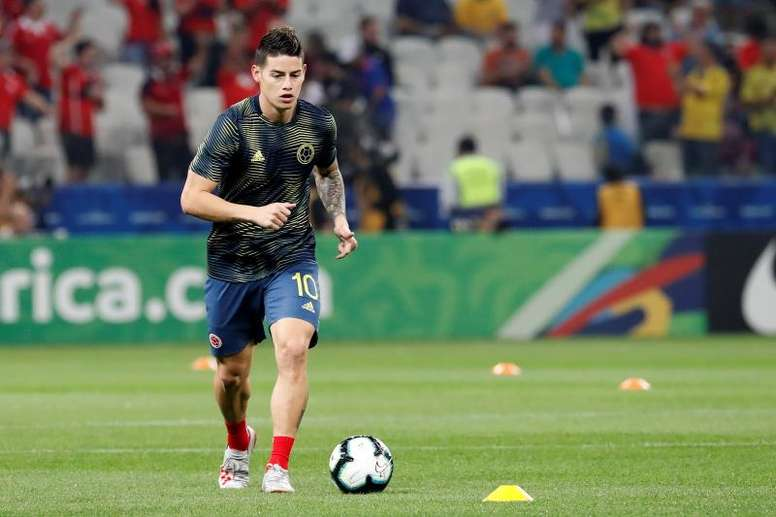 James Rodriguez, called up for Colombia again. EFE