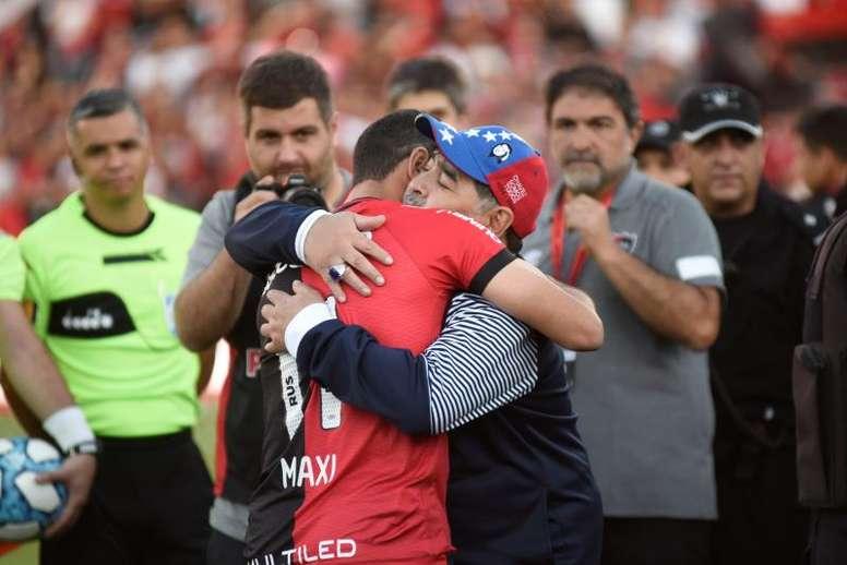 Maxi Rodríguez habló muy bien de Diego Simeone. EFE
