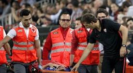 Saltaron las alarmas con la lesión de Escudero. EFE