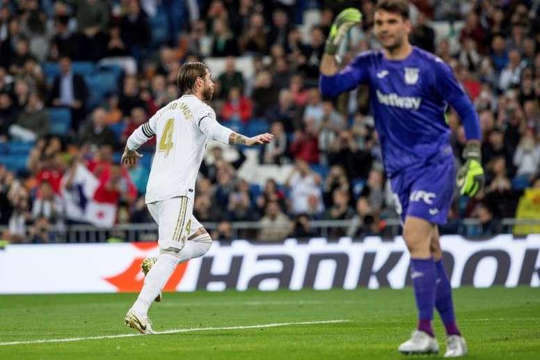 Ramos leva 16 temporadas marcando na LaLiga. EFE
