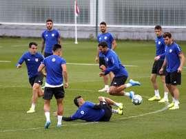 El Athletic volvió al trabajo. EFE