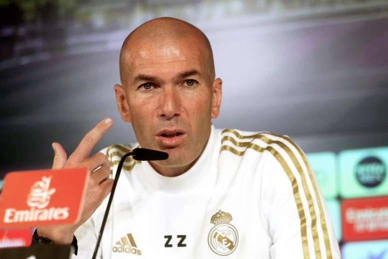Zidane ne veut pas de faux pas avant la trêve internationale. EFE