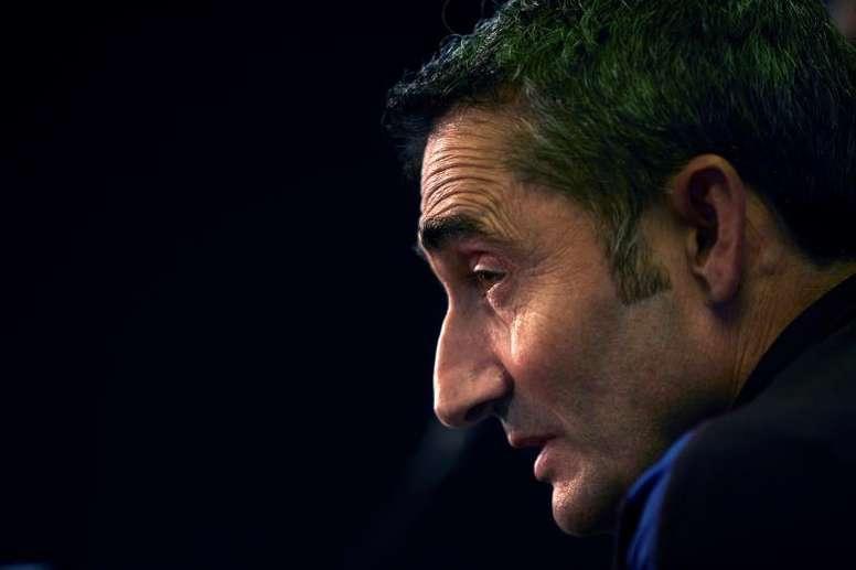 Valverde manda un mensaje a Piqué antes de enfrentarse al Leganés. EFE/Alejandro García