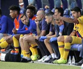 Suarez ha accusato un dolore muscolare, potrebbe saltare la gara con lo Slavia. EFE
