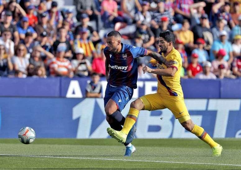 El jugador del Levante está a una amarilla de la suspensión. EFE