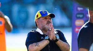 Verón fala sobre Diego Maradona. EFE/Demian Alday Estévez