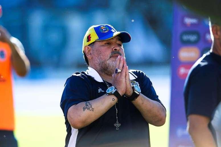 Maradona volta a perder um treino. EFE/ Demian Alday Estévez