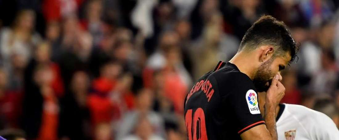 Diego Costa atravessa má fase no Atlético. EFE/Raúl Caro