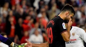 Diego Costa pode desfalcar o Atlético por seis meses. EFE/Raúl Caro