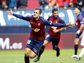 Juan Villar marcó en El Sadar y espera seguir sumando goles a su cuenta. EFE