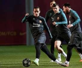 Dembélé e Umtiti voltam à lista... e Valverde deixa Arthur de fora. EFE/ Alejandro García