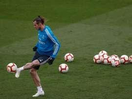Bale a rejoint l'entraînement collectif. EFE