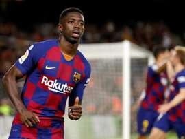 Setién finds a spot for Dembélé. EFE