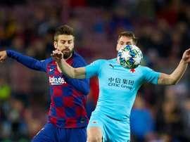Piqué aumenta sua história na Champions League. EFE/Alejandro García