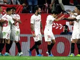 El Sevilla quiere seguir intocable en Europa. EFE