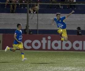 La final de la Liga CONCACAF, en juego. EFE/Jorge Torres/Archivo