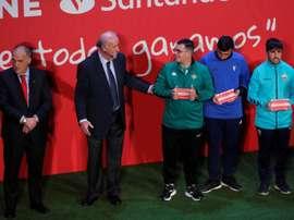 Del Bosque alabó la Liga Genuine. EFE
