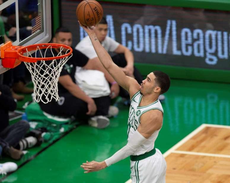 El alero Jayson Tatum de Boston Celtics. EFE/Cj Gunther/Archivo