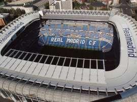 Lo stadio Bernabeu tutto esaurito contro il PSG. EFE