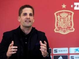 L'attuale tecnico della Spagna Robert Moreno. EFE