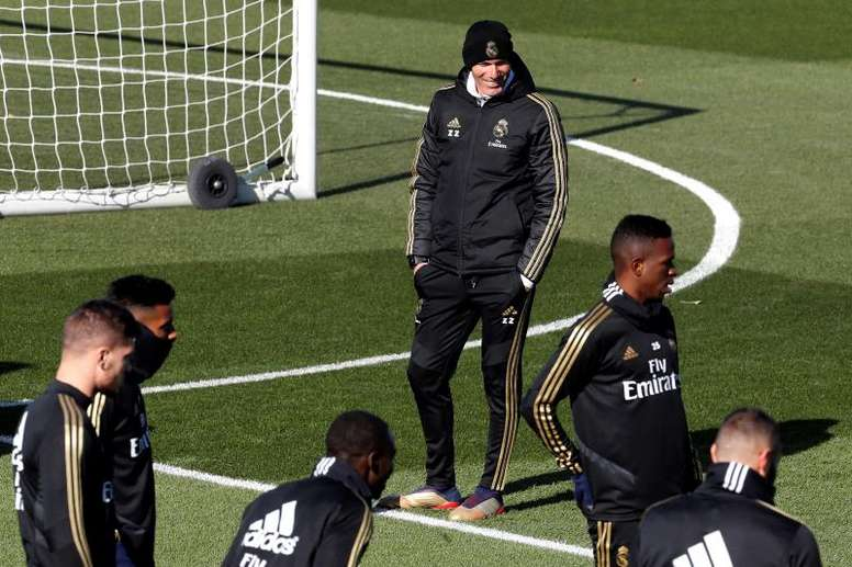 Bale, James e Marcelo, ausentes no último treino. EFE/Chema Moya
