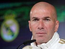 Zidane se irrita com o assunto Bale. EFE/Chema Moya