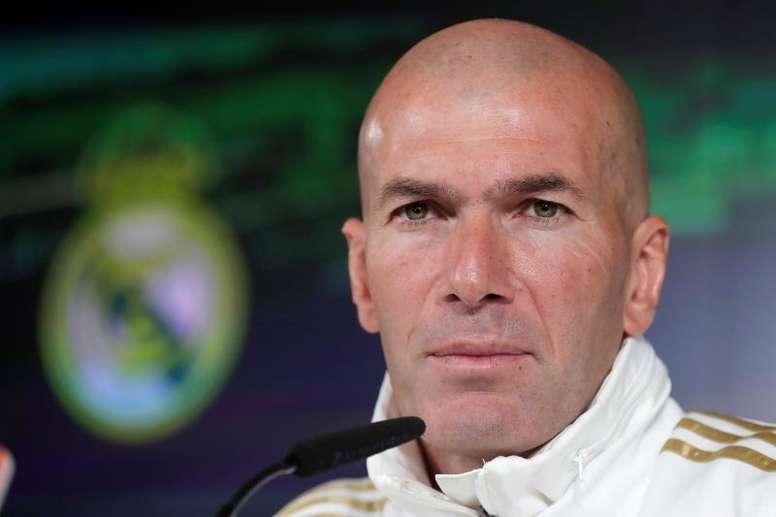 Zidane comentó la situación en rueda de prensa. EFE