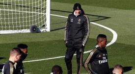 Zidane prepara la formazione per il Clasico. EFE