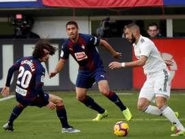 Eibar - Real Madrid: onzes iniciais confirmados. EFE