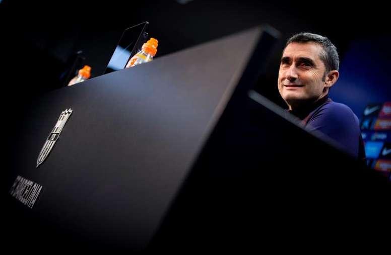 Valverde compareció ante los medios antes del duelo ante la Real. EFE/Archivo