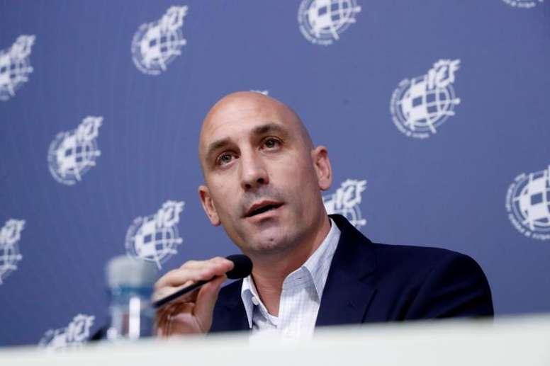 Rubiales insistió en esperar al lunes para hablar de la Supercopa. EFE/Archivo