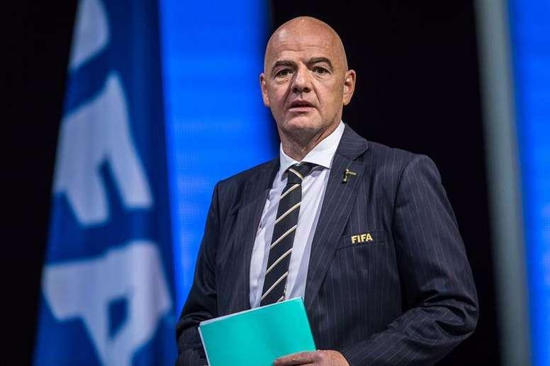 Lazos FIFA-China para organizar el Mundial de Clubes de 2021. EFE/ Christophe Petit Tesson