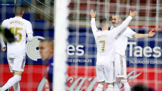 Un trio titulaire inédit pour Zinedine Zidane. EFE
