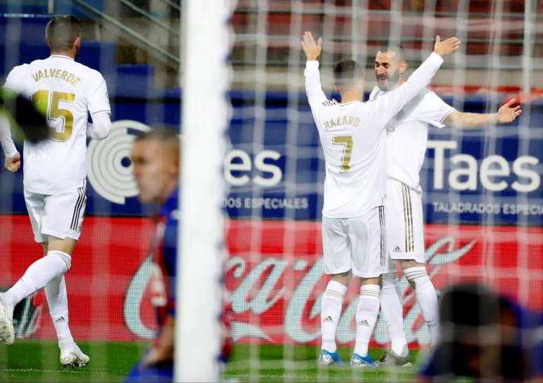 O Real Madrid de Zidane começa a fazer chover. EFE