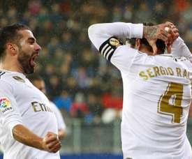 Carvajal e Ramos marcaram os gols do Real Madrid. EFE/Juan Herrero/arquivo