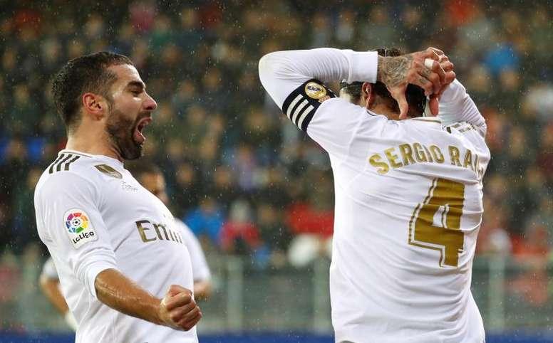 Benzema et le Real Madrid marchent sur Eibar et prennent la tête. AFP