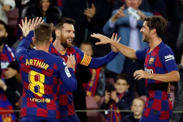 Sergi Roberto promete que pondrá todo de su parte para que Messi decida seguir. EFE
