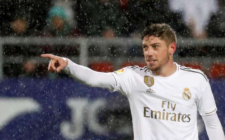Valverde marcó su primer gol con el Real Madrid. EFE