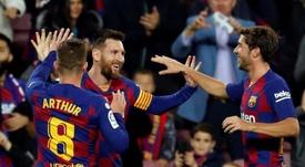 Messi resolve de todas as formas. EFE