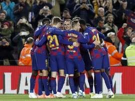Newcastle observa jogadores do Barcelona pensando em reforços. EFE/Andreu Dalmau