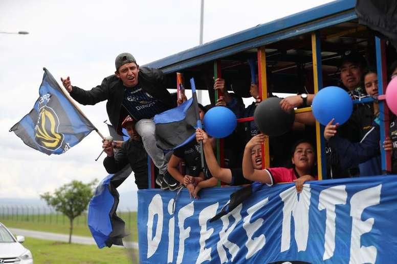 Independiente del Valle lo celebra. EFE